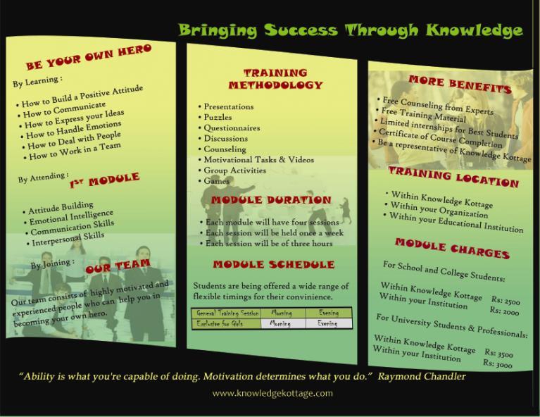 back side of Brochure
